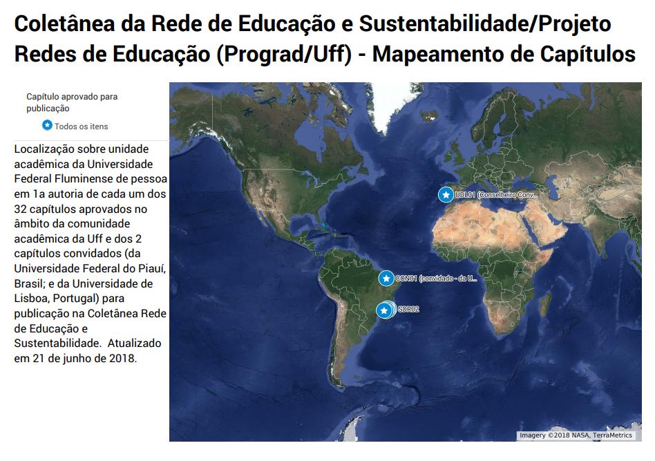 Mapeamento de Capítulos da coletânea da Rede de Educação e Sustentabilidade - versão 21 de Junho de 2018